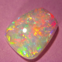 Red-multicolour Opal